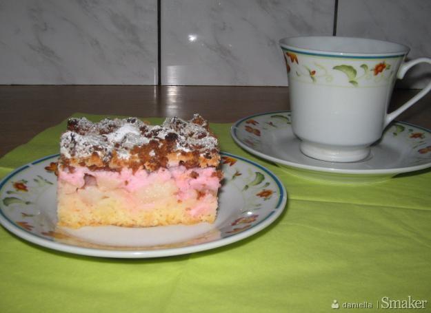 Ciasto z jabłkami i kisielem