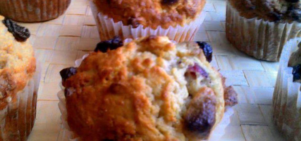 Razowe muffinki z białą czekoladą i żurawiną (autor: agnieszka189 ...