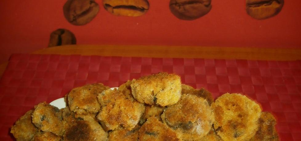 Pieczarki panierowane w jajku i w bułce tartej. (autor: nogawkuchni ...