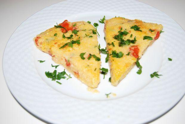 Przepis  polenta z pomidorami i serem przepis