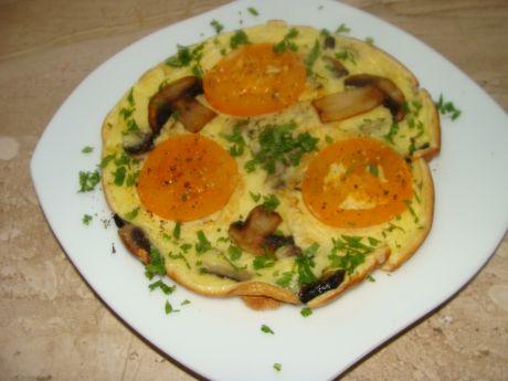 Przepis  omlet z pomidorami i pieczarkami przepis