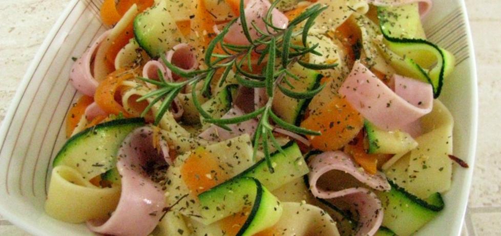 Pappardelle z warzywami i szynką (autor: panimisiowa ...
