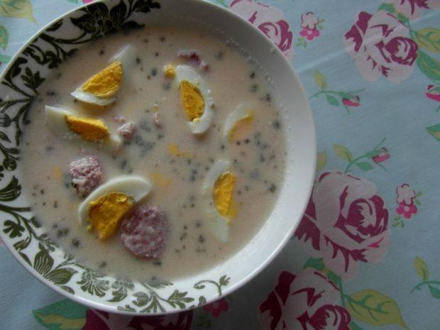 Przepis  zupa chrzanowa z białą kiełbasą przepis
