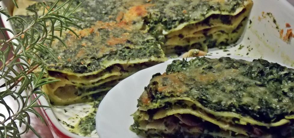 Lasagne ze szpinakiem i boczniakami (autor: mniam ...