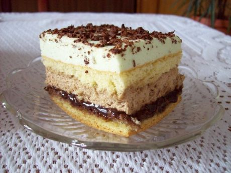 Przepis na: ciasto z masą cappuccino
