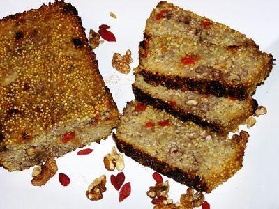 Ciasto gruszkowe z kaszą jaglaną