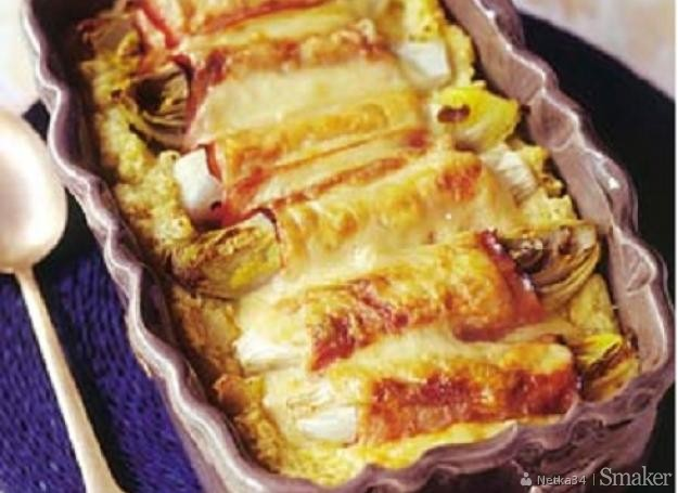 Cykoria zapiekana z szynką i serem