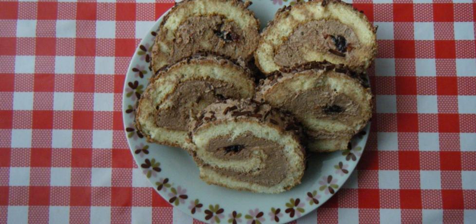 Rolada biszkoptowa z masą kakaową (autor: ikrakowianka ...