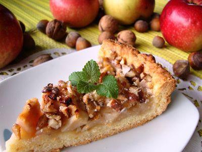 Tarta jabłkowa z białym winem