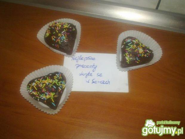 Przepis  muffinkowe serduszka :) przepis