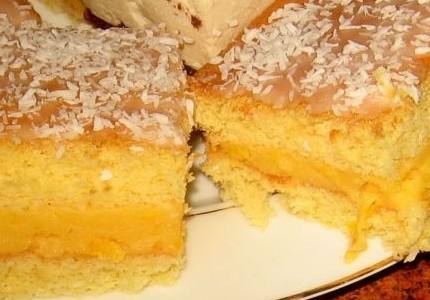 Ciasto z kremem pomarańczowym...