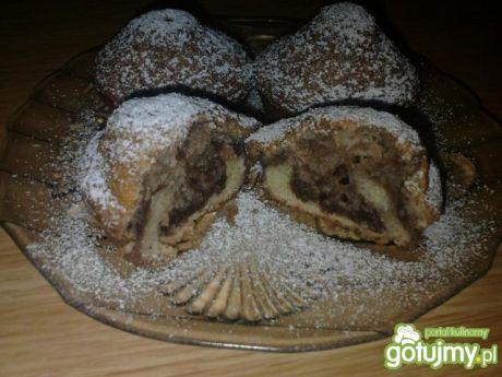 Przepis  muffinki czarno białe przepis