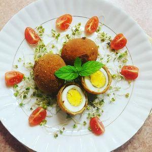 Gotowane jajka w panierce