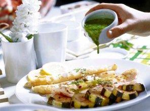 Biała ryba z zielonym sosem  prosty przepis i składniki