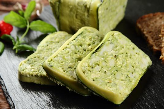 Pasztet z cukinii i zielonego groszku
