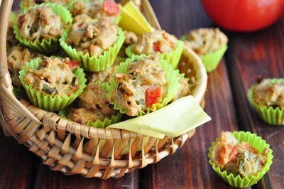 Bardzo pikantne pomidorowe muffinki