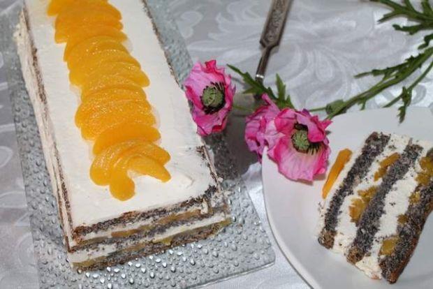 Przepis  ciasto makowe z brzoskwiniami przepis