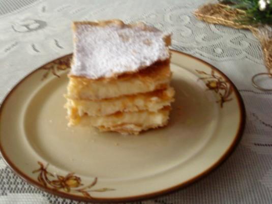 Ciasto francuskie  kremówka