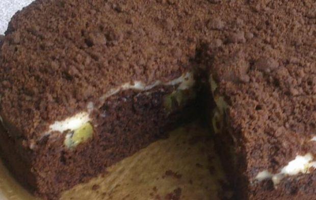 Przepis  ciasto czekoladowe z kiwi przepis