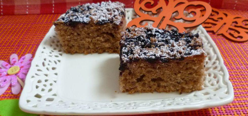 Czekoladowe ciasto z jagodami (autor: krystyna32 ...