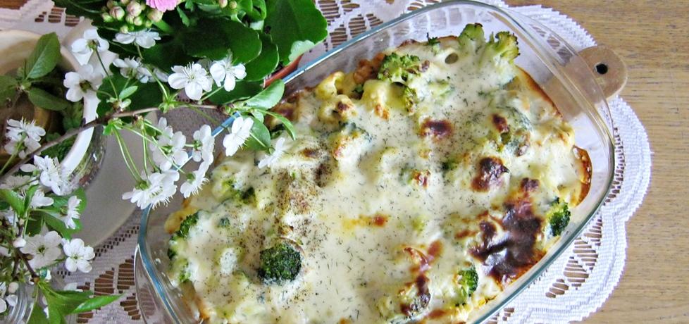 Zapiekanka z tortellini, kurczakiem i brokułem w kremowym ...