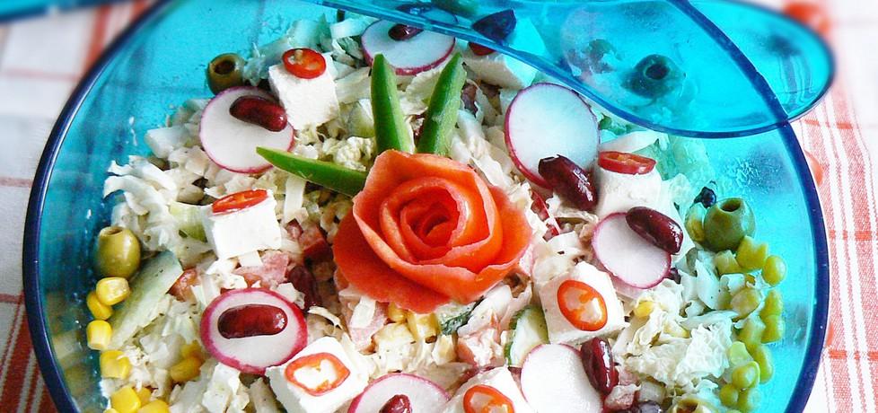 Sałatka pekinka z fetą i chili na ostro (autor: mysza75 ...