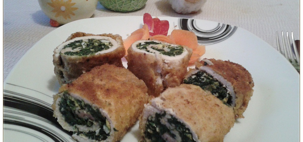 Roladki faszerowane szpinakiem i tartym jajkiem (autor: monikat83 ...