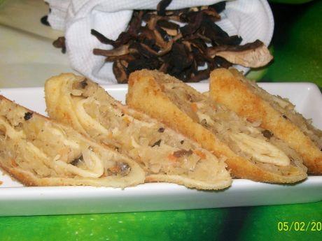 Krokiety z kapustą i suszonymi grzybami (kapusta)