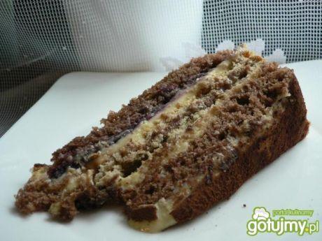 Przepis  tort kakaowo-krówkowy przepis