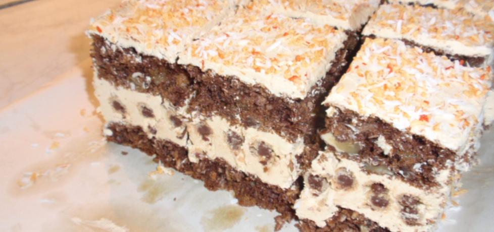 Ciasto z kremem kakaowym i rurkami (autor: gosia56 ...
