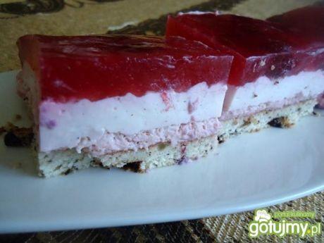 Przepis  ciasto malinowe z galaretką przepis