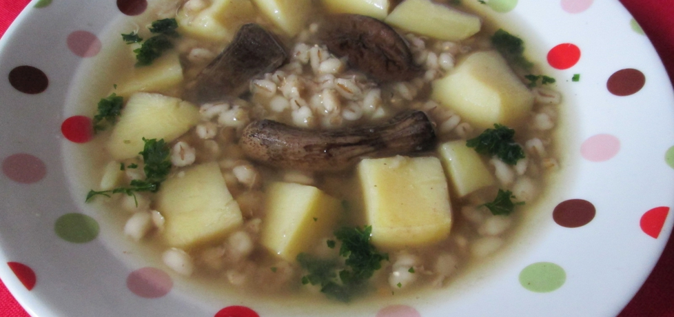 Zupa grzybowa z pęczakiem (autor: katarzyna40)