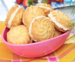 Ciasteczka maślane z kremem cytrynowym