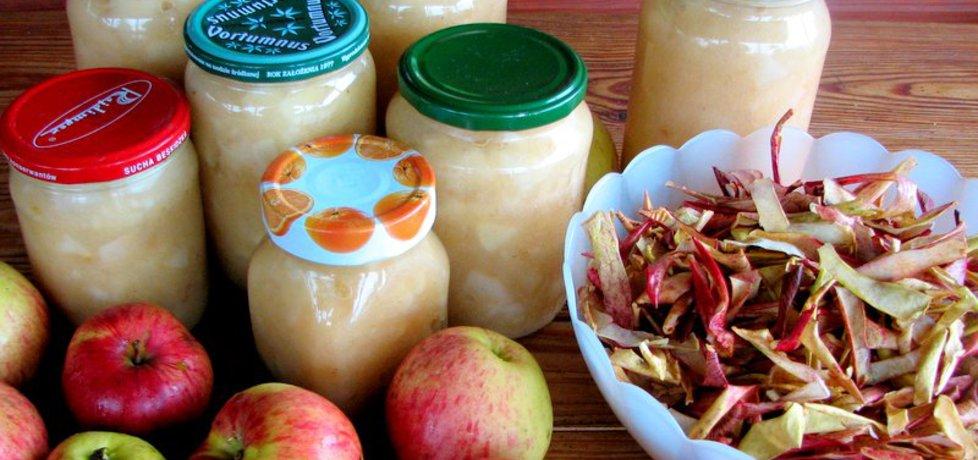 Jabłka prażone do szarlotki i suszone skórki (autor: smacznapyza ...