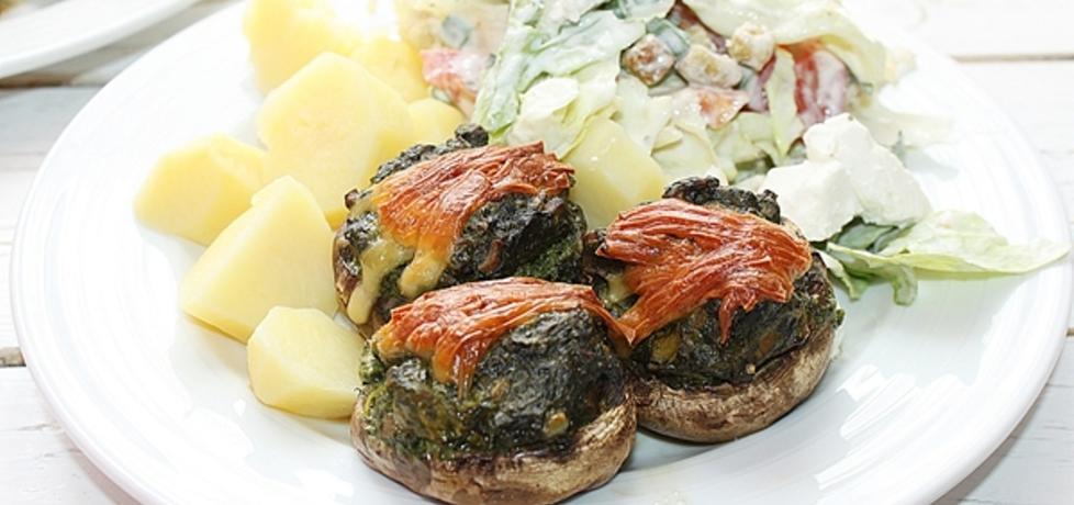 Faszerowane pieczarki ze szpinakiem i serem fetą (autor ...