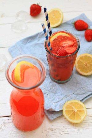 Lemoniada truskawkowa  prosty przepis i składniki