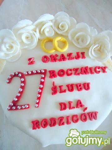 Tort na rocznicę ślubu  torty