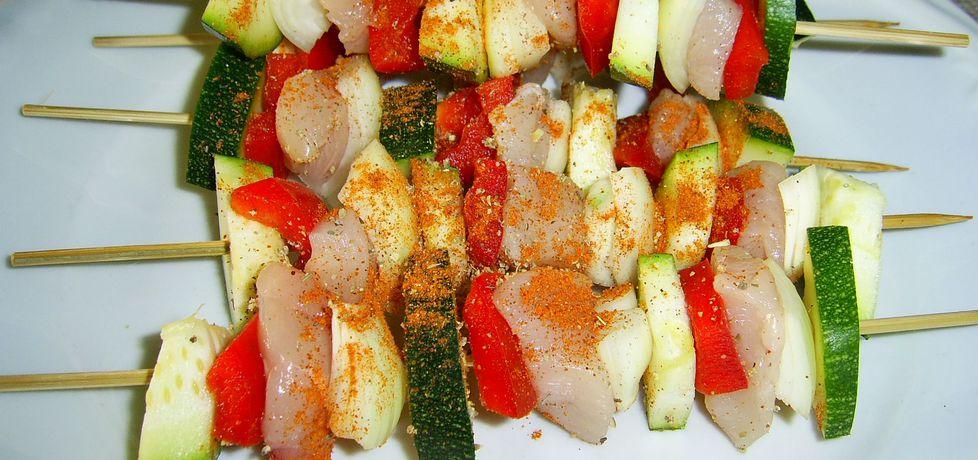 Szaszłyki warzywne z kurczakiem (autor: karolina92 ...