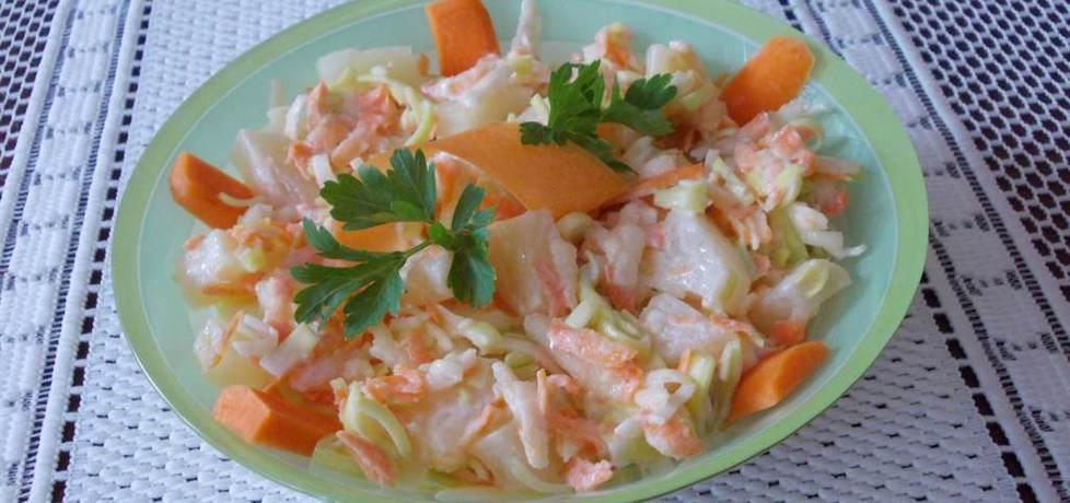 Surówka z pora, marchewki i ananasa. (autor: bernadeta1 ...