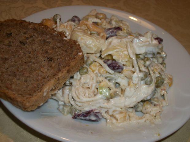 Przepis  sałatka jarzynowa z tortellini i jajkami przepis