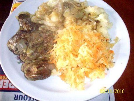 Przepis  wątróbka z drobiu z ziemniakami :) przepis