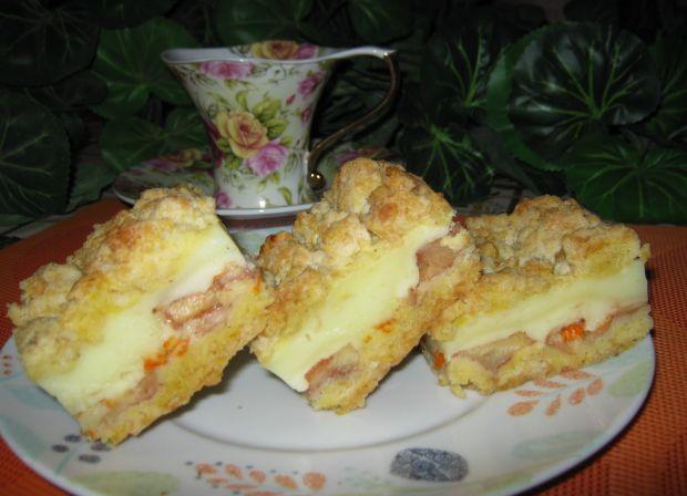 Przepis  ciasto jabłkowo budyniowe przepis