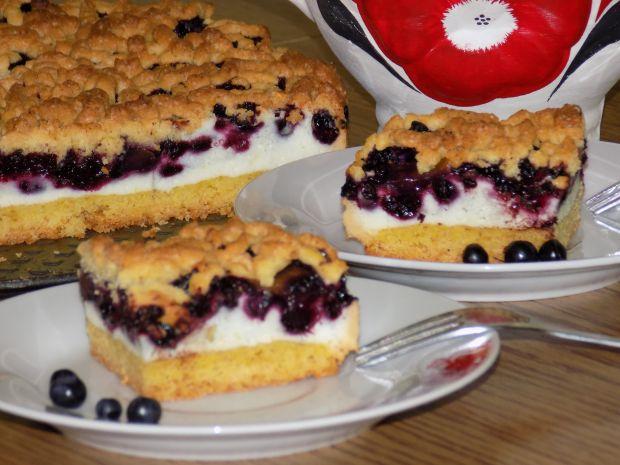Przepis  ciasto jagodowo brzoskwiniowe przepis
