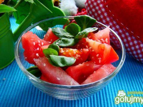 Przepis  sałatka z arbuza i pomidora przepis