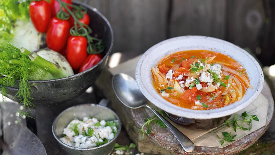 Zupa z pomidorów i kopru włoskiego