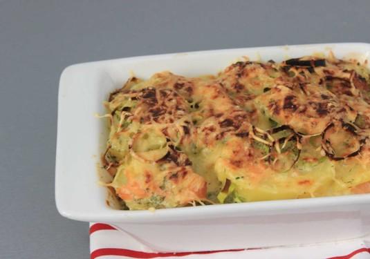 Zapiekanka ziemniaczana z łososiem w sosie koperkowo-serowym ...