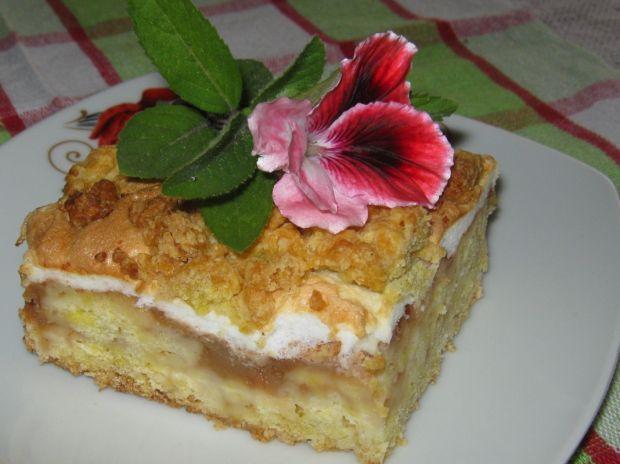 Przepis  ciasto z musem jabłkowym i pianką przepis