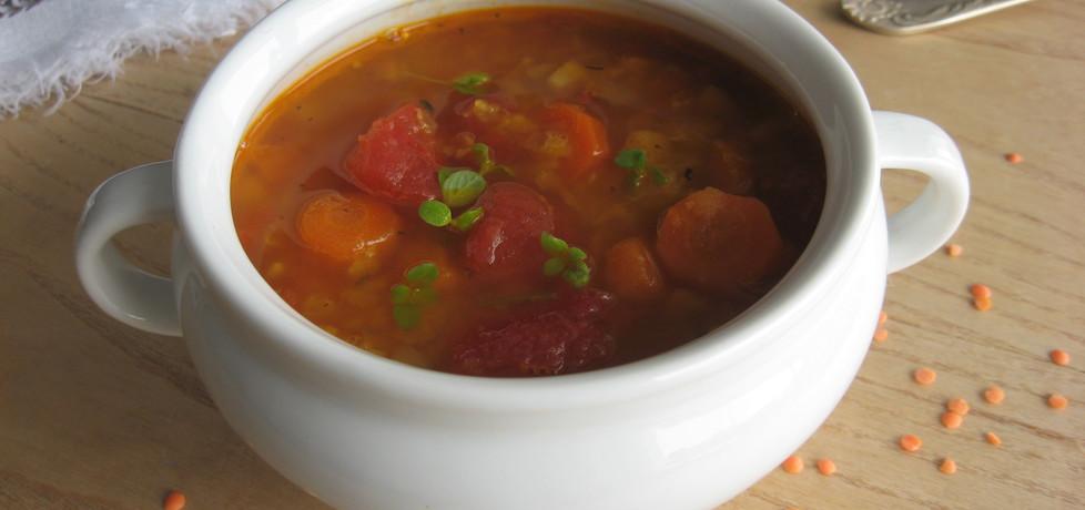 Zupa z czerwonej soczewicy i pomidorów (autor: anemon ...