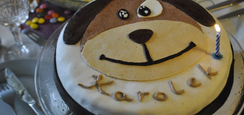 Tort na roczek  piesek (autor: probofka)