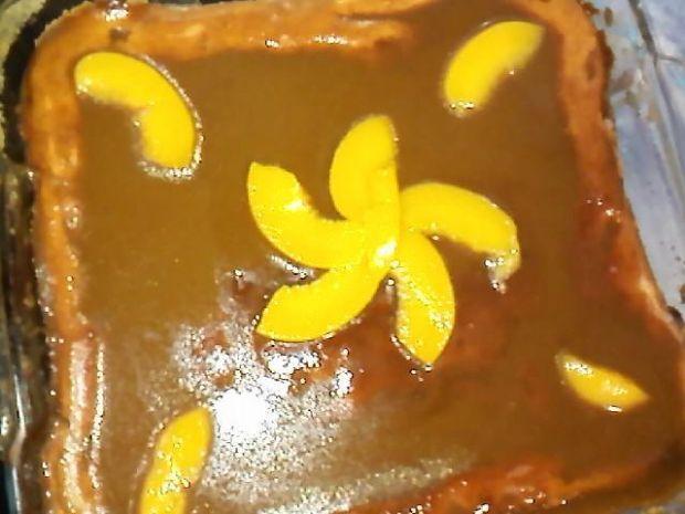 Sernik z brzoskwiniami.  przygotowanie